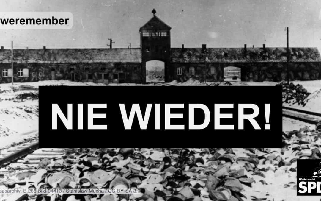 Wir gedenken der Opfer des Nationalsozialismus